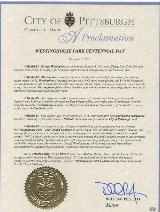 Mayorial proclamation
