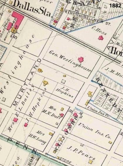 westinghouse park area - 1882