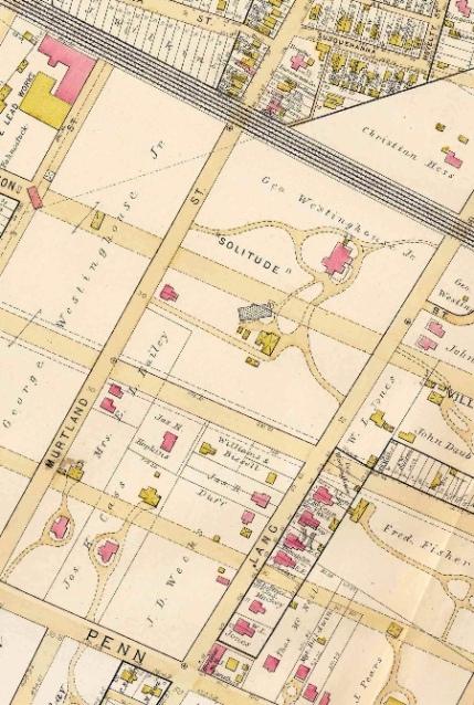 westinghouse park area - 1890