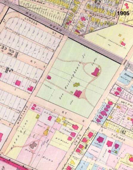 westinghouse park area - 1905