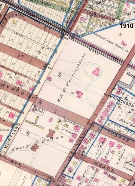 westinghouse park area - 1910