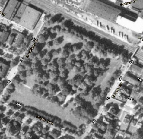 westinghouse park area - 1957